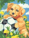 Cute Doggy with a ball