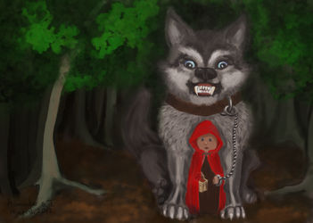 Little red riding hood and the wolf by AsiST