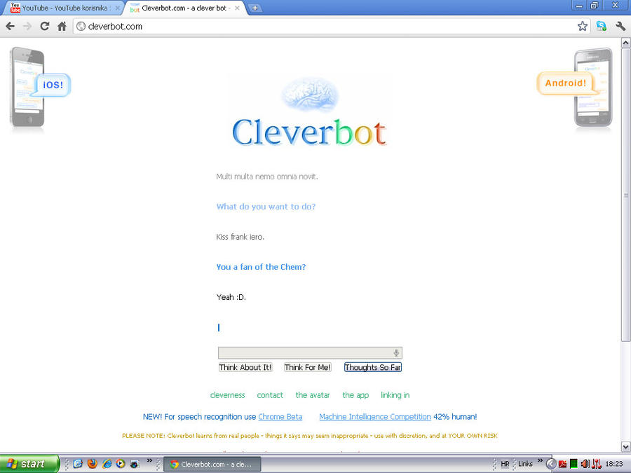 Cleverbot knows about MCR :D by Deathecoolone