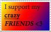 I support my crazy friends by Deathecoolone