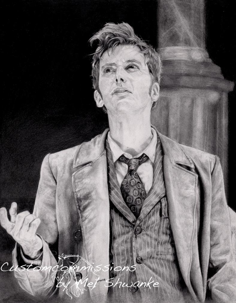 David Tennant as the Doctor by MelShwanke