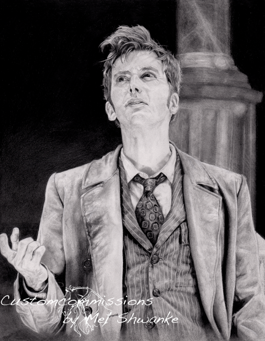David Tennant as the Doctor by MelShwanke