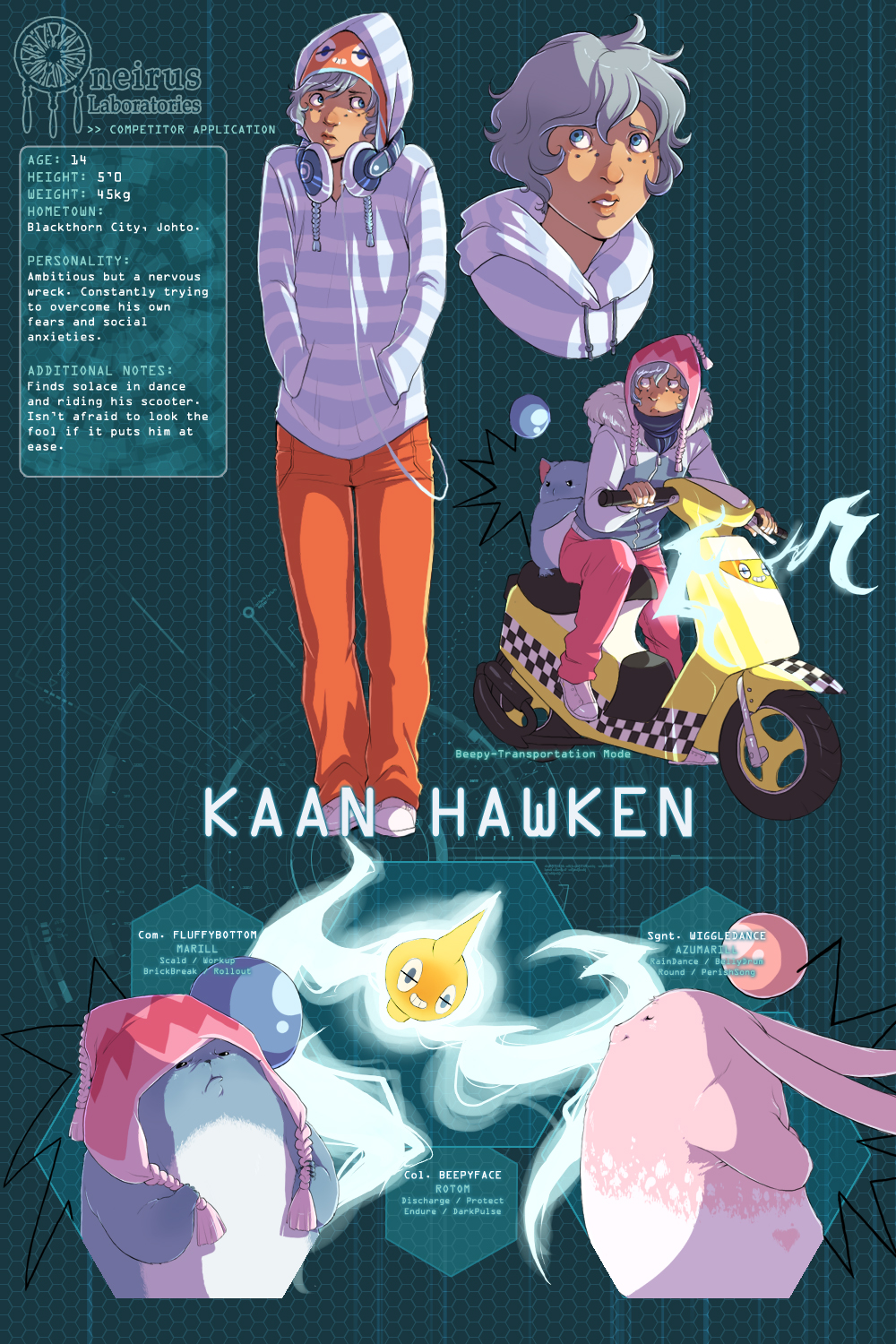PKMN Dream Labs: Kaan Hawken by Awesome-Vince