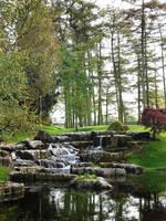Garden waterfall by GoblinStock