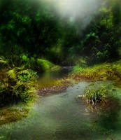 Dark Stream Background 1 by GoblinStock