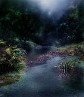 Dark Stream Background 2 by GoblinStock