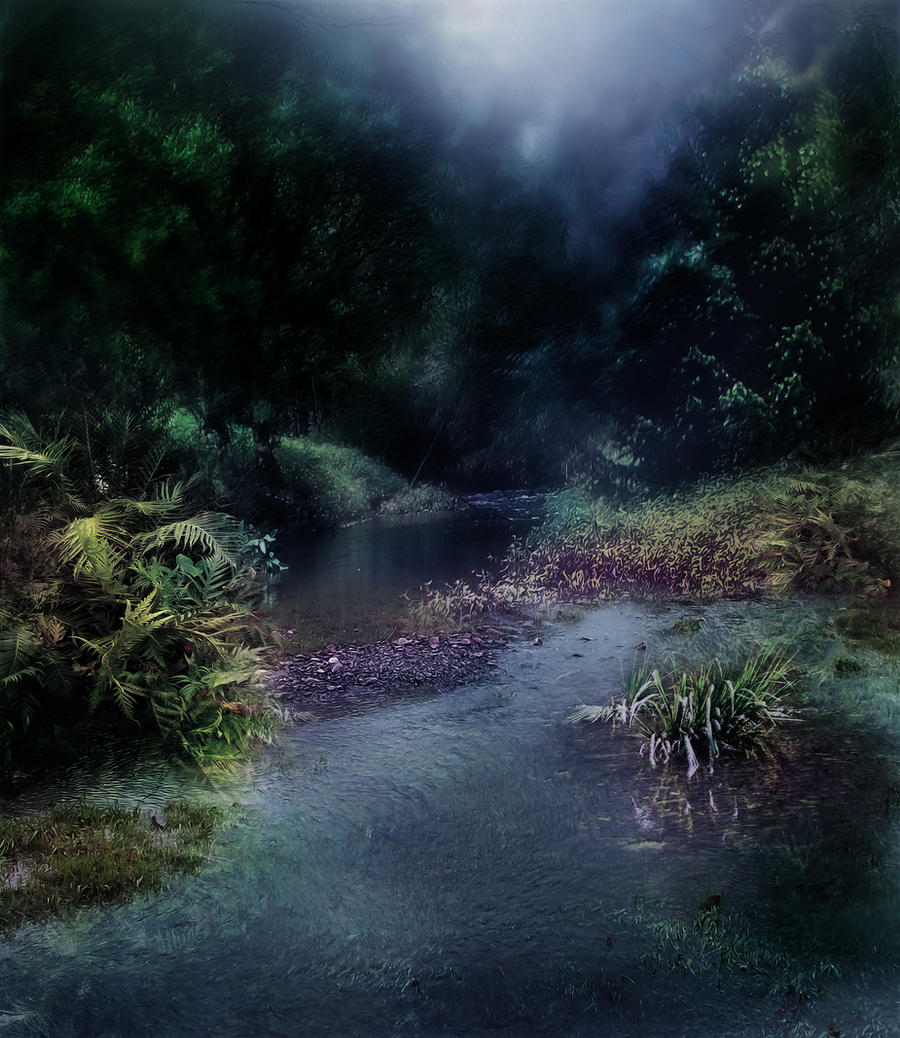 Dark Stream Background 2 by GoblinStock