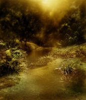 Dark Stream Background 3 by GoblinStock