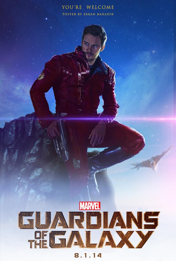 Guardians Of The Galaxy Star Lord Poster By Erkanbahadir23