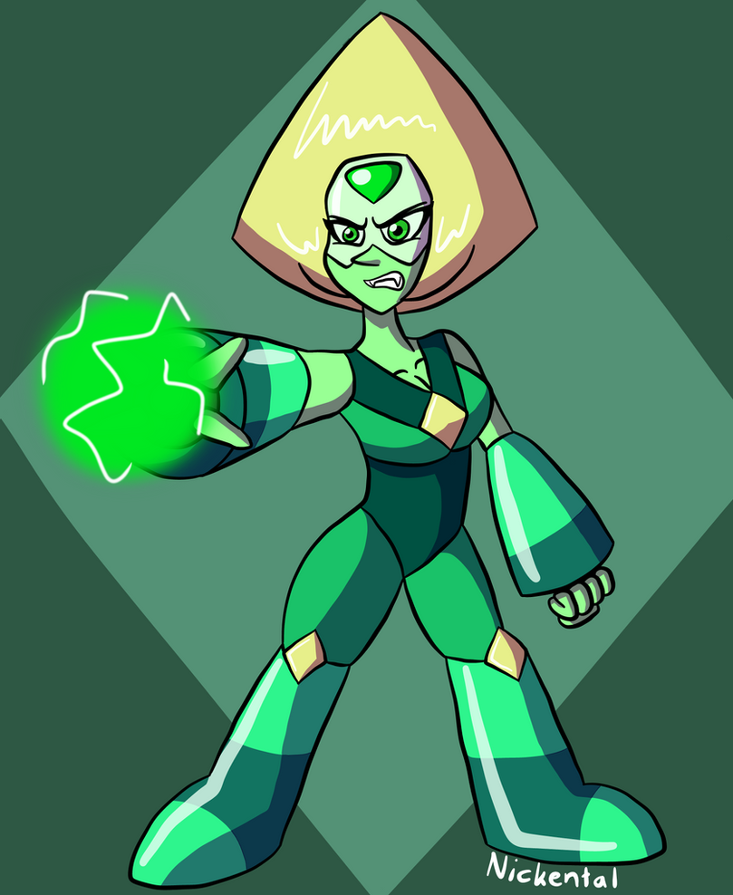 I just felt like drawing Peridot with her limb enhancers. To be honest, I like this version of Peridot more than her current one without limb enhancers. I also find her pretty attractive with them.