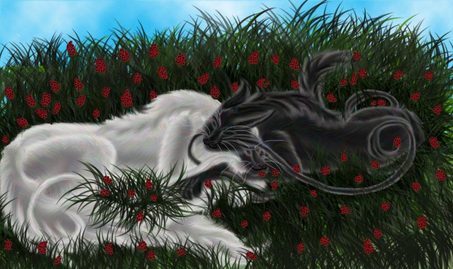 Sleeping among berries by Selina99999