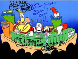 Rocko's Modern Reunion (Autographed) by RaccoonFoot