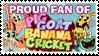 Stamp: Proud Pig Goat Banana Cricket Fan