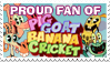 Stamp: Proud Pig Goat Banana Cricket Fan by Coonfoot