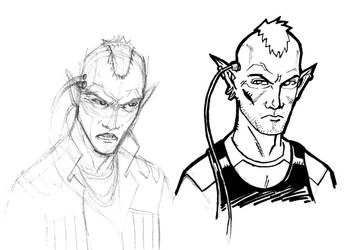 Shadowrun - Elf Sketches