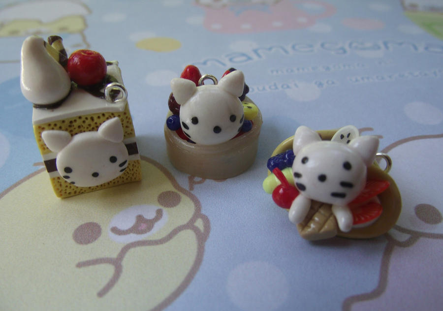 Nyanko Kitty Charms by funkypinkgal