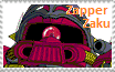 Zapper Zaku Stamp by Robotmonkeygirl91