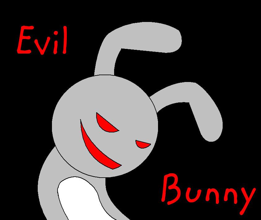 evil cartoon bunny - 844×711