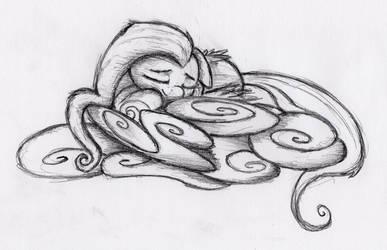 Fluttershy sleeping