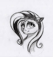 Another Fluttershy sketch (original by Dennyvixen)