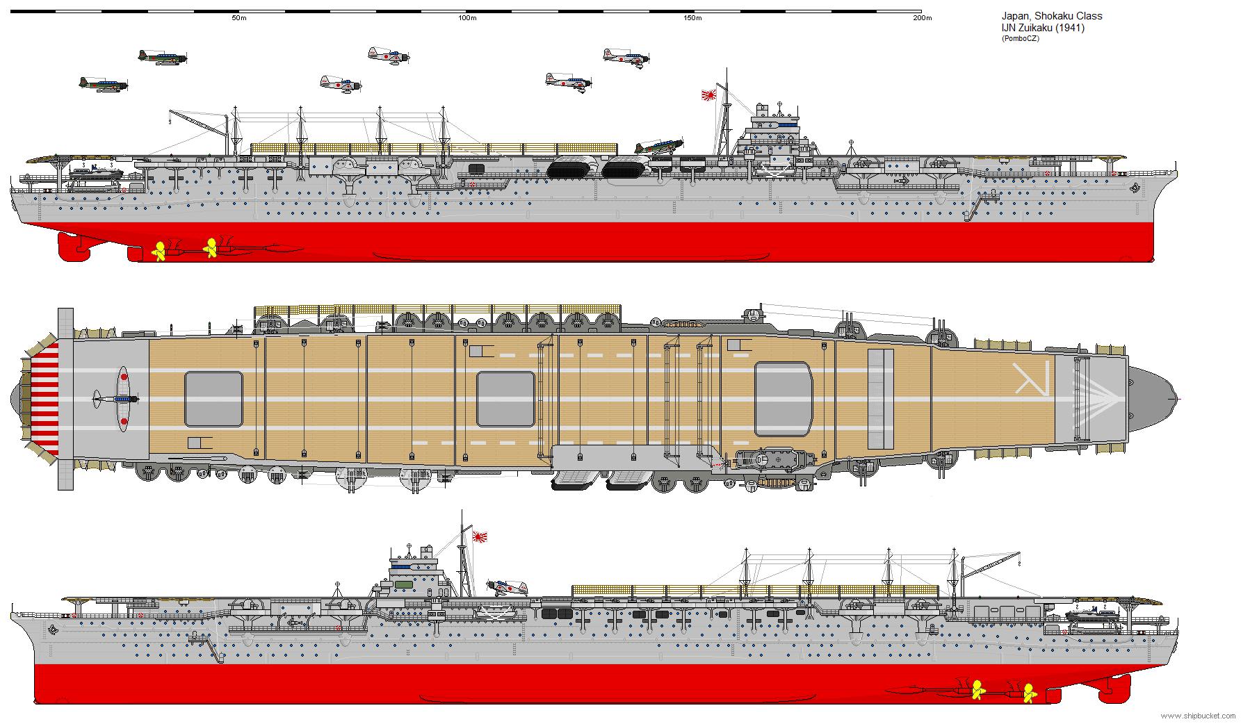 Shokaku-class Aircraft Carrier (1941) by ijnfleetadmiral on