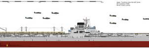 Tsushima-class Aircraft Carrier (1949) by ijnfleetadmiral