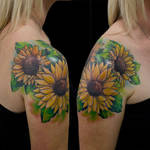 Trio of Sunflowers