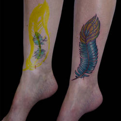 1190 Peacock Feather Tattoo