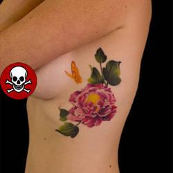 Peone Flower Tattoo