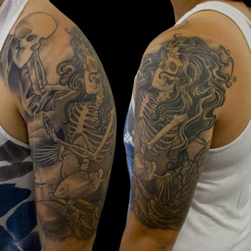 Skeleton Mermaid by Origam-e