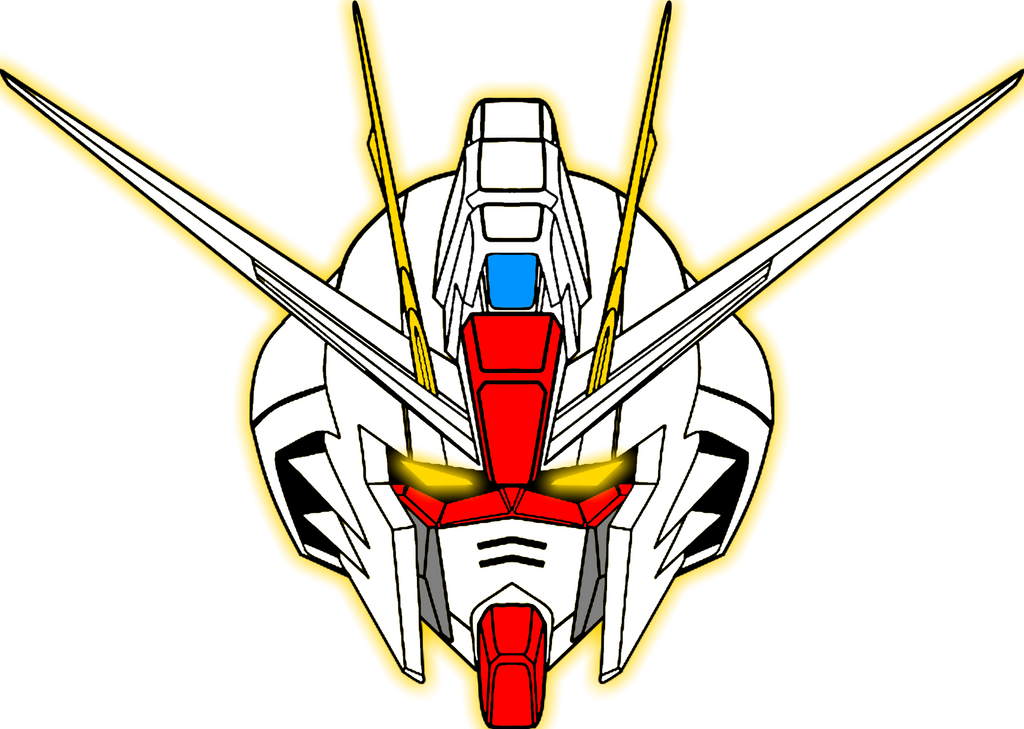ZGMF-X10A Freedom Gundam (head) COLORED by Jaw57 on DeviantArt