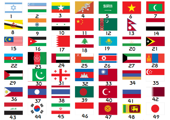 Asian Countries Capitals And Flags Quiz Stats By BRNepsilon - Sporcle capitals