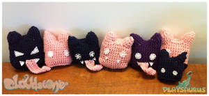 Cloudstone - Crocheted Fat Bats
