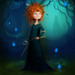 Merida, now with background! by AngryPotato
