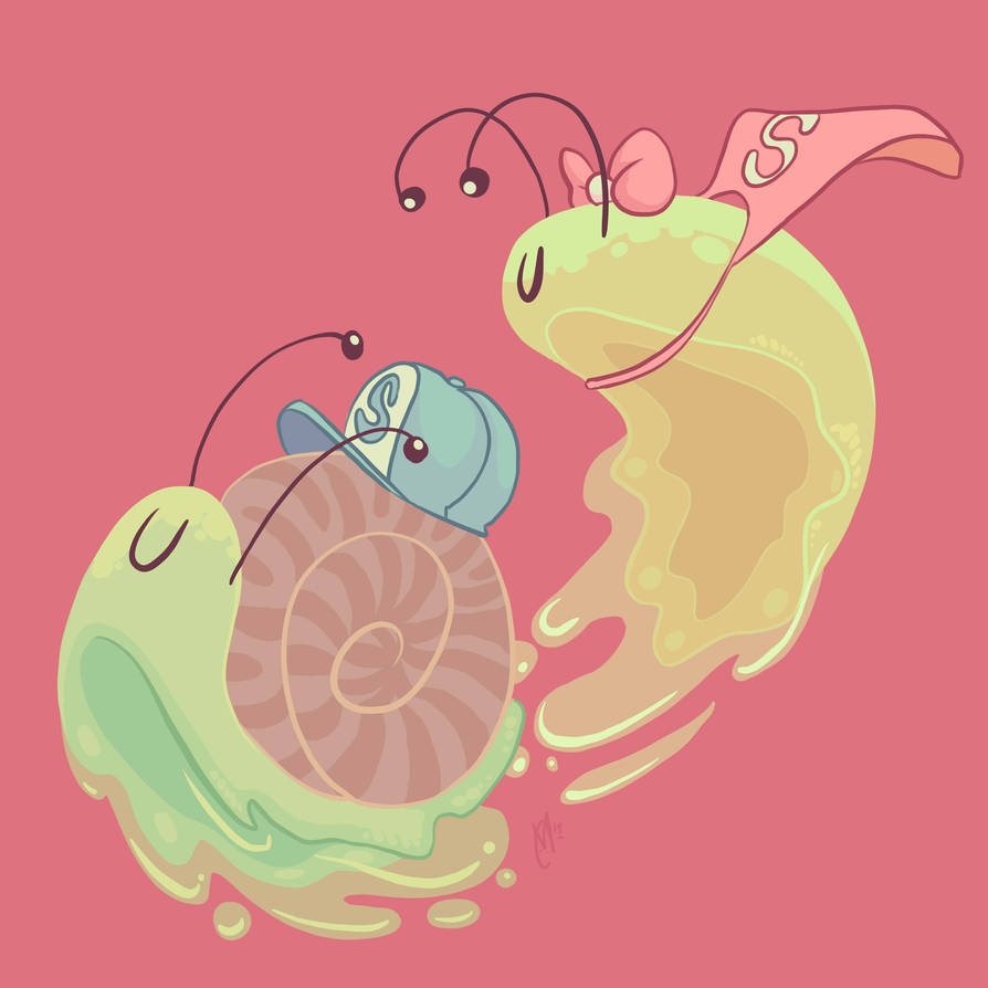 Art Prompt - Slug and Snail! by AngryPotato