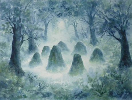 Misty Standing Stones.