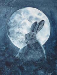 Moonlit Hare by SueMArt