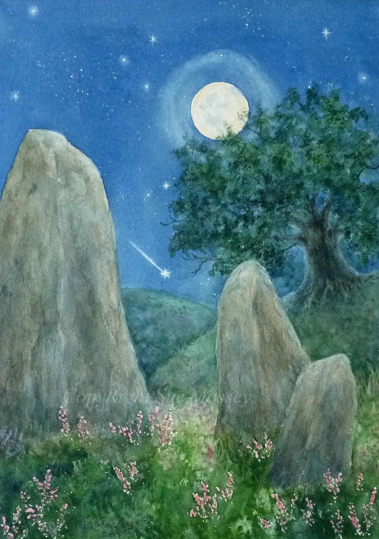 The Stones in the Moonlight. by SueMArt