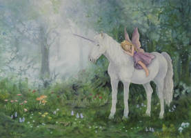 The Unicorn and the Fairy. by SueMArt
