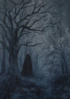 The Dark Cloaked Figure. by SueMArt