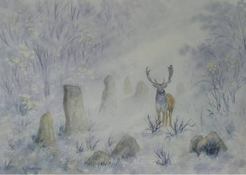 The Stag and the Standing Stones. by SueMArt