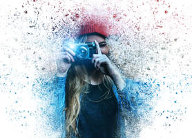 Dispersion effect portrait by fantasmadesign