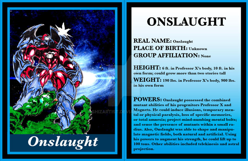 Onslaught - Marvel Card by Shizartist on DeviantArt