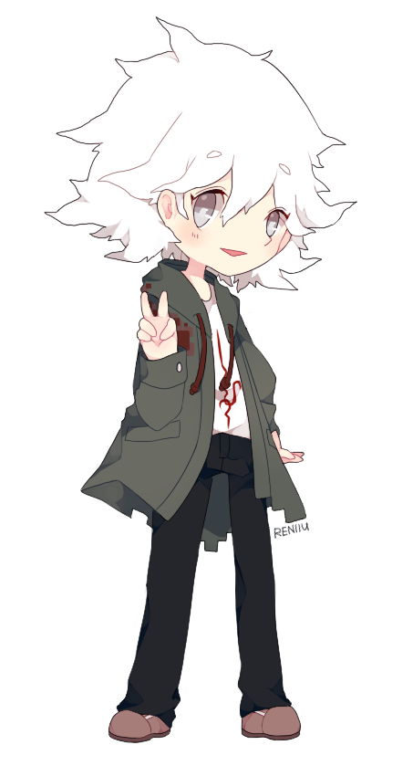 super danganronpa 2   nagito komaeda by reniiu on deviantart