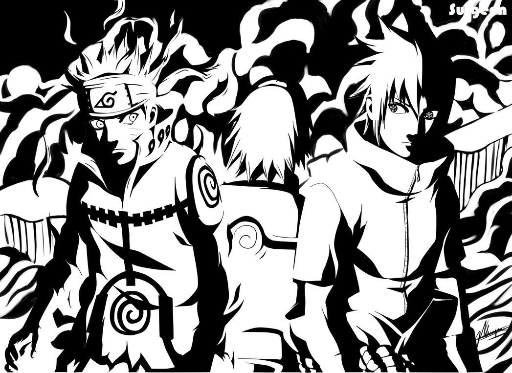 Naruto, Sasuke and Sakura Team 7 reunits by Surgeon-Art