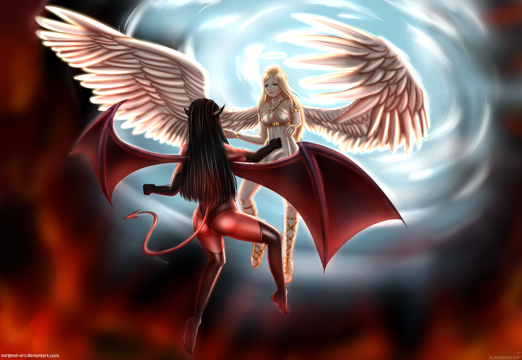 Ange et demon by surgeon art on deviantart - Images anges et demons gratuit ...
