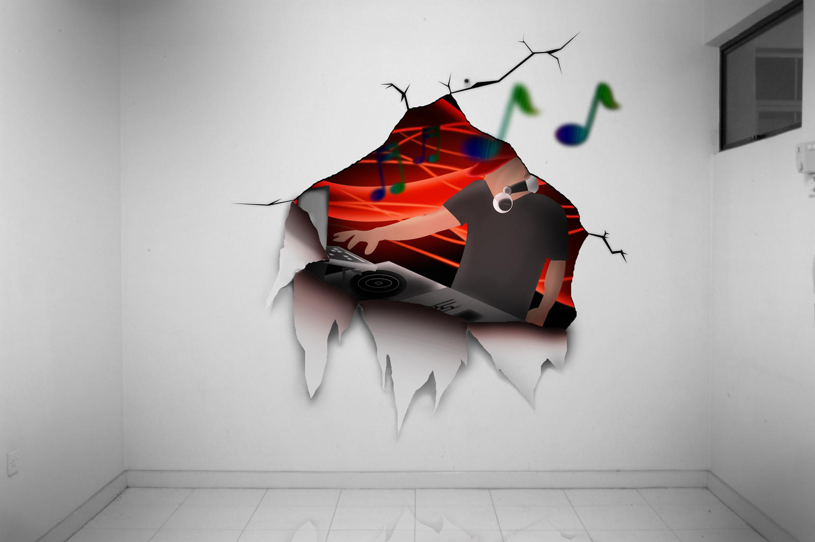 Digital mural painting by djdodim4ster on deviantart for Digital print mural