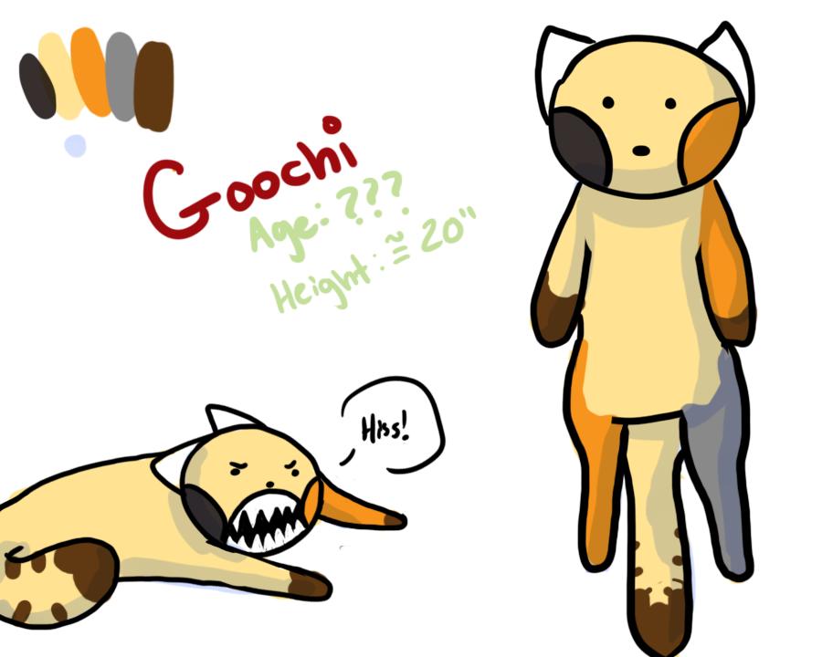 Goochi - Ref Sheet by GiantTomatoes