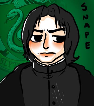 Art Trade: Snape by GiantTomatoes