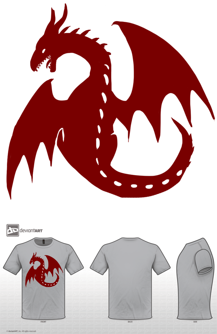 Red Dragon 01 Shirt Design by GiantTomatoes